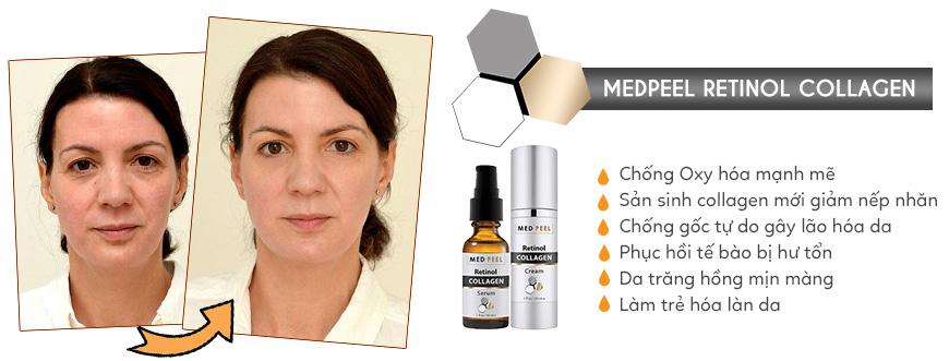 Hiệu quả Medpeel Retinol Collagen
