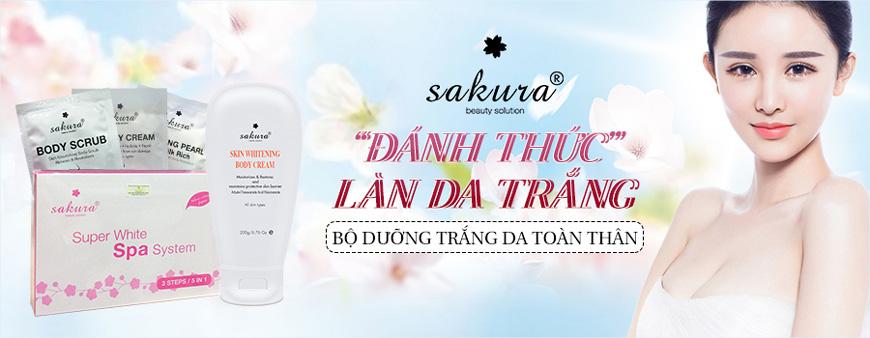 Bộ kem dưỡng trắng da toàn thân Sakura 1