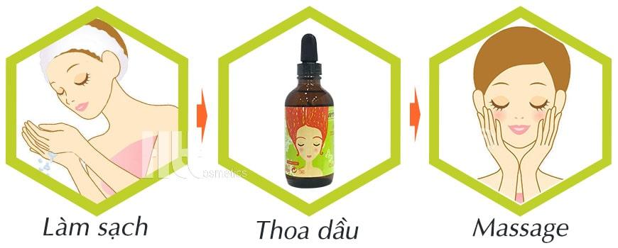 Cách dùng dầu dưỡng massage Aroma hoa ngọc lan