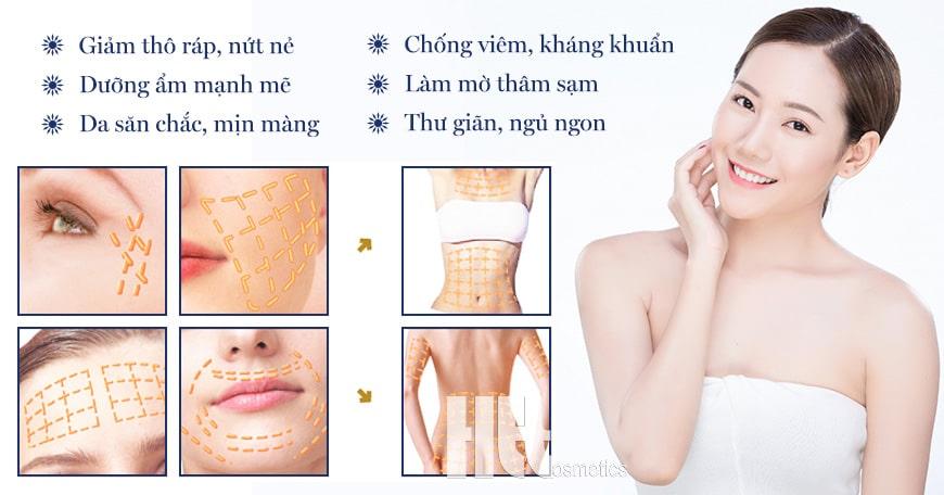 Công dụng dầu dưỡng massage Aroma Lavender