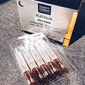 Công dụng Serum Martiderm Platinum Night Renew