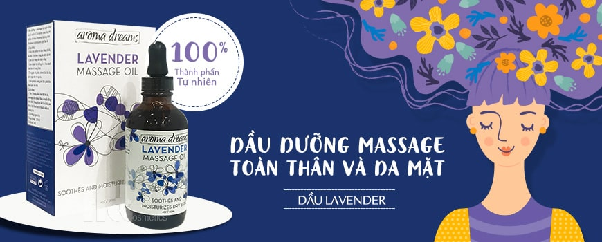 Dầu dưỡng massage toàn thân và da mặt Aroma Lavender