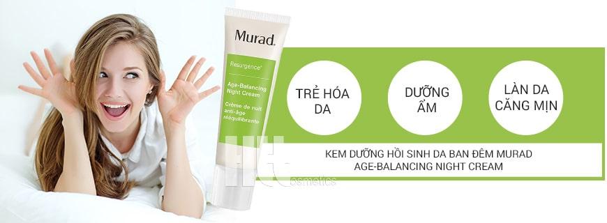 Kem chống lão hóa phục hồi da ban đêm Murad Age-Balancing Night Cream