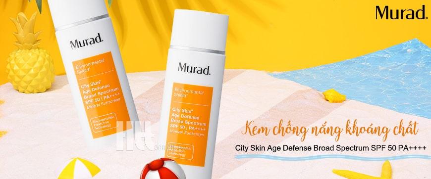 Kem chống nắng khoáng chất Murad City Skin Age Defense Broad Spectrum SPF 50 PA++++