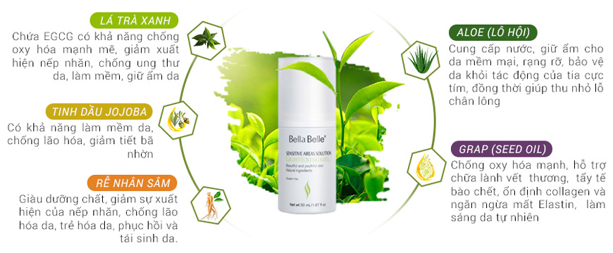 Bella Belle Sensitive Areas Solution dạng gel