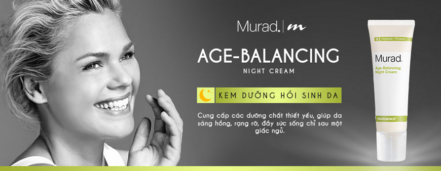 Kem chống lão hóa phục hồi da ban đêm Murad Age-Balancing Night Cream 1