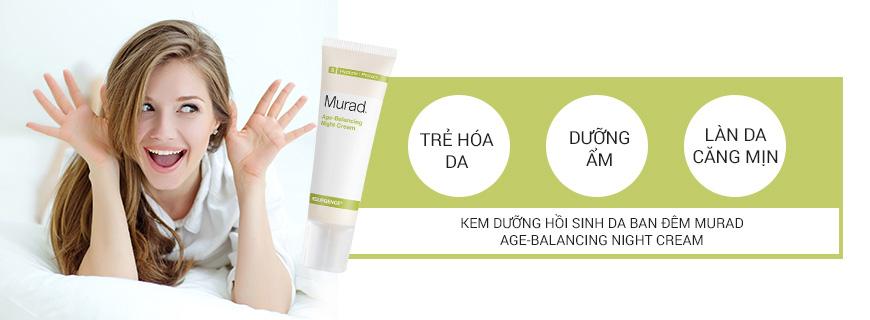 Kem chống lão hóa phục hồi da ban đêm Murad Age-Balancing Night Cream 2