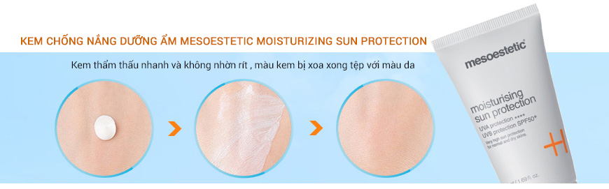 Hiệu quả Mesoestetic Moisturizing Sun Protection