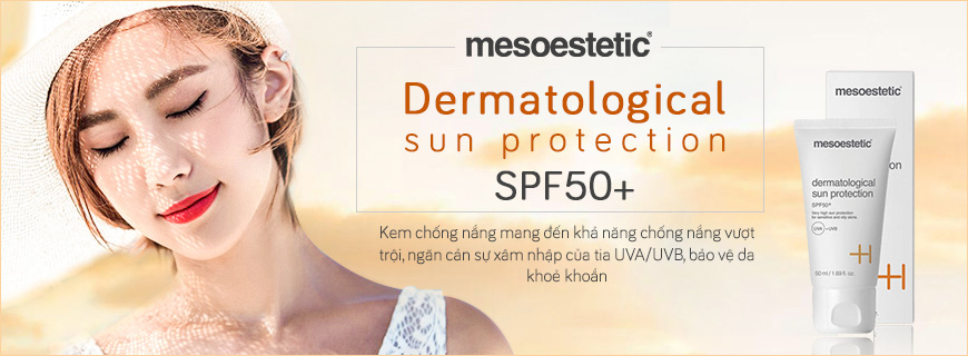 1. Kem chống nắng Mesoestetic Dermatological Sun Protection SPF50+
