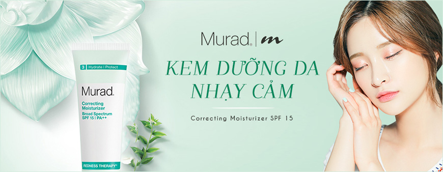 1. Kem dưỡng da nhạy cảm Murad Correcting Moisturizer SPF 15 | PA++