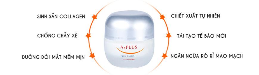 Kem chống nhăn vùng mắt, giảm thâm A&Plus Eye Cream A007 2