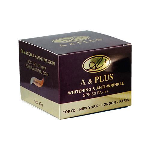 Kem dưỡng trắng da chống lão hóa phục hồi da A&Plus Whitening & Anti-Wrinkle SPF 50 PA+++
