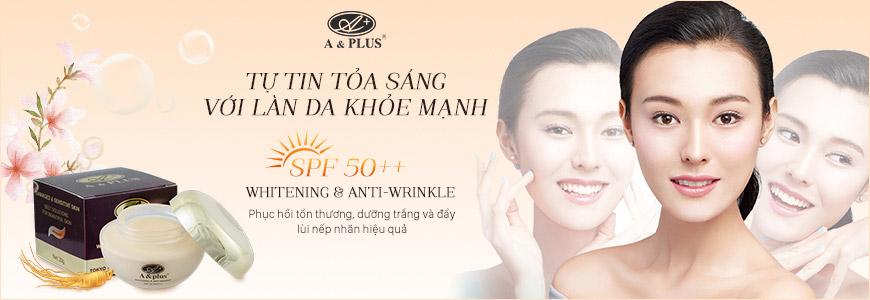 Kem dưỡng trắng da A&Plus Whitening & Anti-Wrinkle SPF 50 PA+++