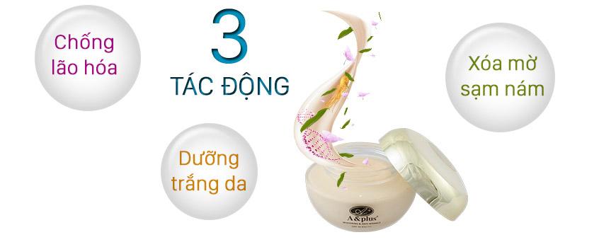 Kem dưỡng trắng da chống lão hóa phục hồi da A&Plus Whitening & Anti-Wrinkle SPF 50 PA+++ 2