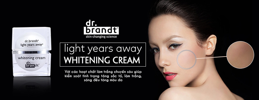 Kem dưỡng trắng da Dr. Brandt Light Years Away Whitening Cream 1