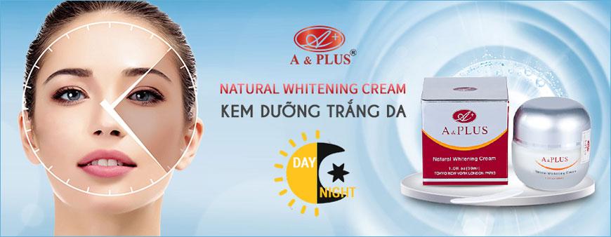 Kem dưỡng trắng da mặt ngày và đêm A&Plus Natural Whitening Cream A014 1