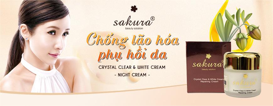 Kem dưỡng trắng phục hồi da ban đêm Sakura Restorative Night Cream 1