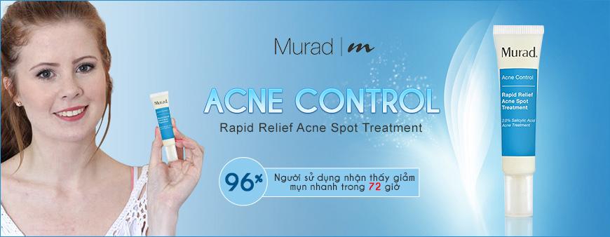Gel giảm mụn mủ, mụn trứng cá nhanh Murad Acne Control 1
