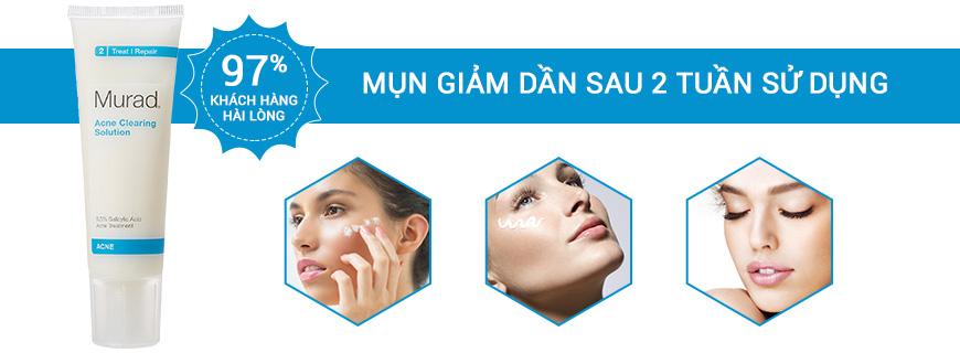 Hiệu quả Murad Acne CLearing Solution