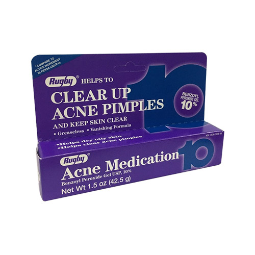 Rugby Acne Medication Benzoyl Peroxide 10%