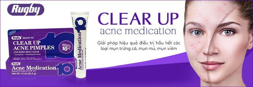 Kem giảm mụn trứng cá, mụn mủ Rugby Acne Medication 1