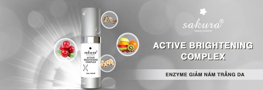 Enzyme Giảm Nám Trắng Da Sakura Active Brightening Complex 1