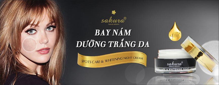 Kem trị nám ban đêm Sakura spots care & whitening night cream