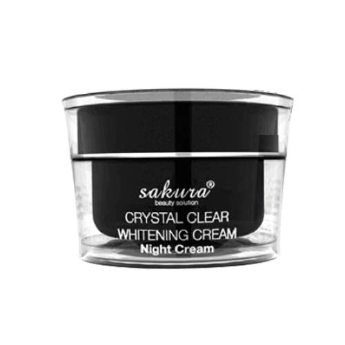Sakura Crystal Clear Whitening Night Cream