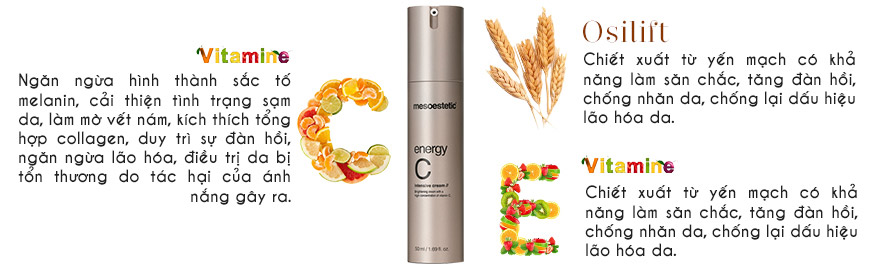 Công dụng Mesoestetic Energy C Intensice Cream