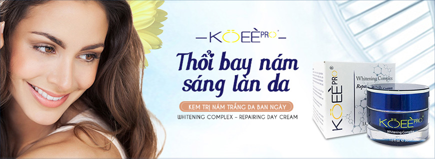 Kem hỗ trợ trị nám trắng da ban ngày Koee Pro 1