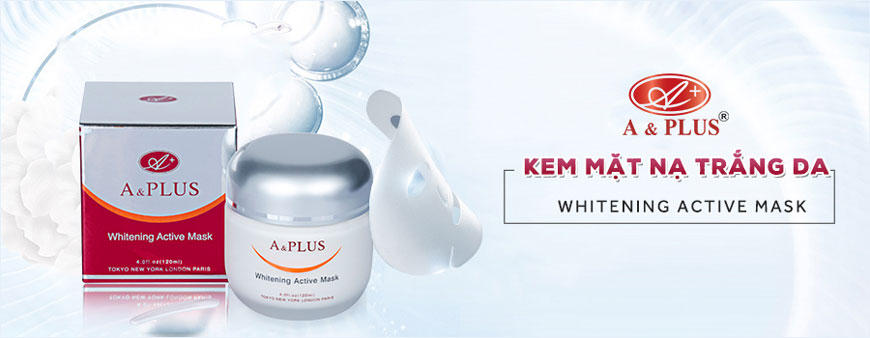 Kem mặt nạ trắng da A&Plus Whitening Active Mask A010 1