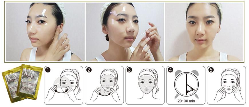 Hướng dẫn sử dụng mặt nạ collagen Puroz
