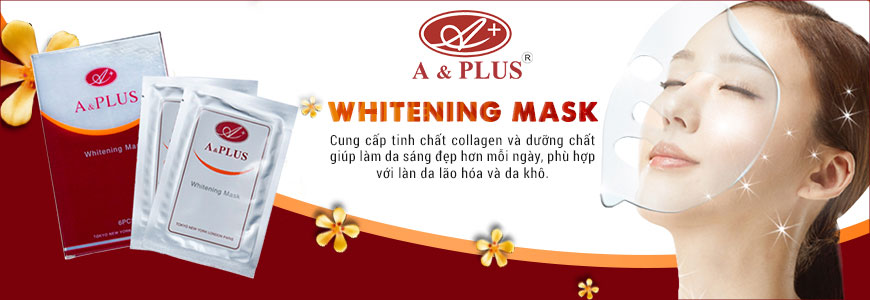 Mặt nạ trắng da collagen A&Plus Whitening Mask A009 1