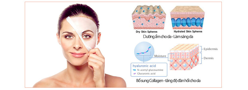 Mặt nạ trắng da collagen A&Plus Whitening Mask A009 2