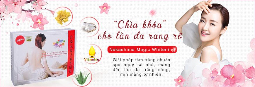 1. Bộ kem tắm trắng Nakashima Magic Whitening set 7
