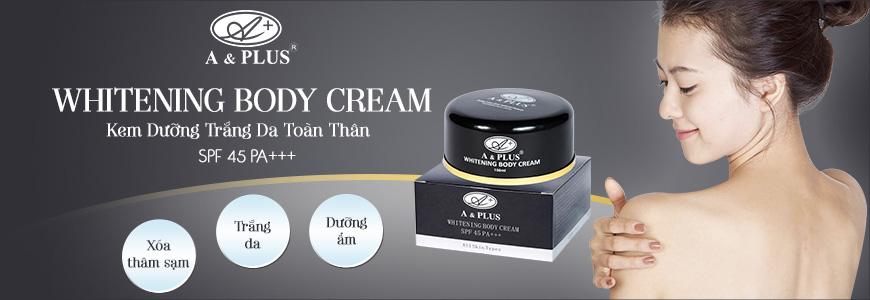 Kem dưỡng trắng da toàn thân A&Plus Whitening Body Cream SPF 45 PA+++ 1
