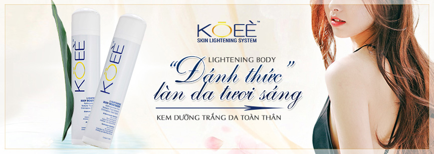 Kem dưỡng trắng da toàn thân Koee Lightening Body Moisturizer