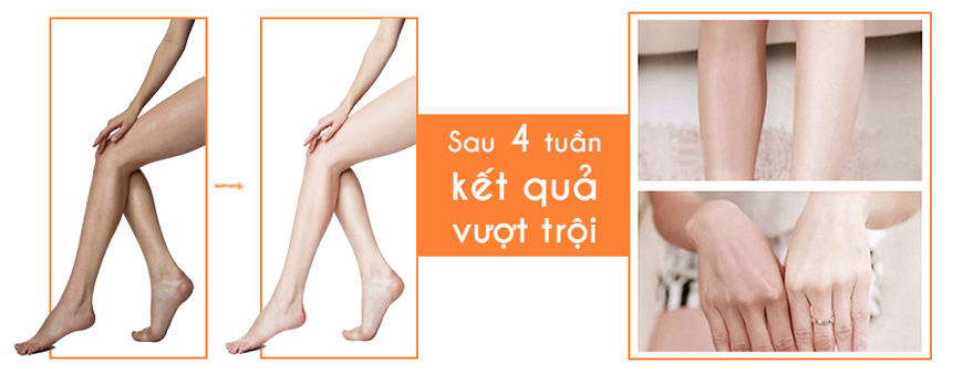Hiệu quả Sakura Skin Whitening Body Cream