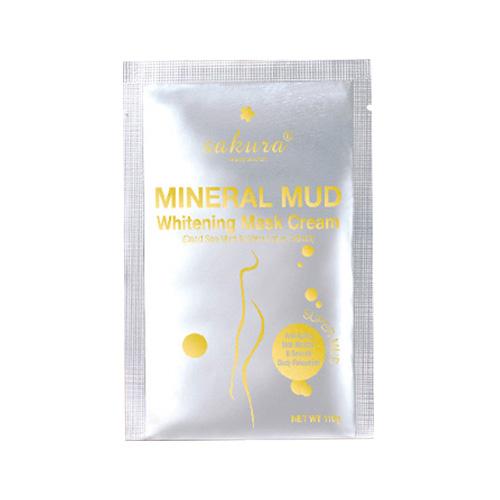 Kem tắm trắng bùn biển Sakura Dead Sea Mineral Mud Whitening Mask Cream