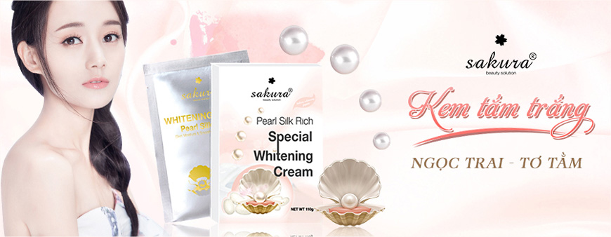 Sakura Pearl Silk Rich Special Whitening Cream