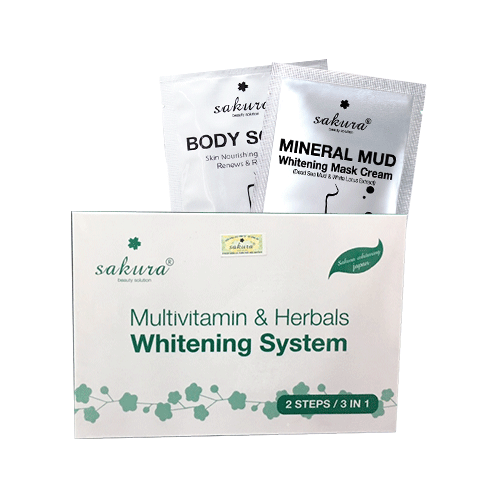 Kem tắm trắng Sakura Vitamin C và thảo dược