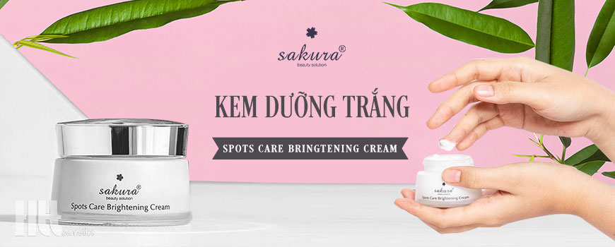 Kem trắng da mặt ngừa sạm nám Sakura Spots Care Brightening Cream