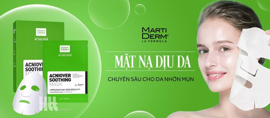 Mặt nạ dịu da MartiDerm chuyên sâu cho da nhờn mụn