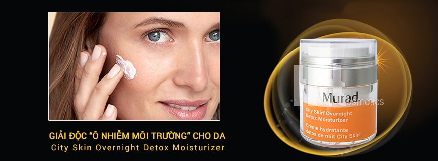 Hiệu quả Murad City Skin Overnight Detox Moisturizer