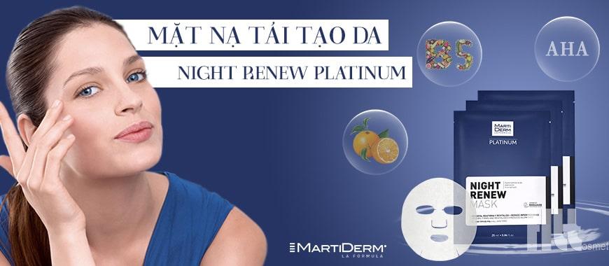 Mặt nạ tái tạo da MartiDerm Night Renew Platinum