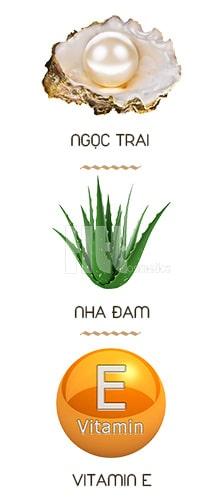 Natural Pearl (ngọc trai) & Aloe oil (nha đam) & Vitamin E 2