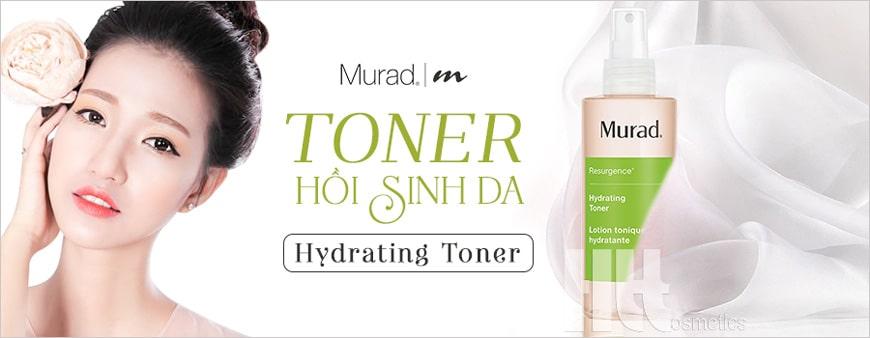 Nước hoa hồng dưỡng ẩm phục hồi da Murad Hydrating Toner
