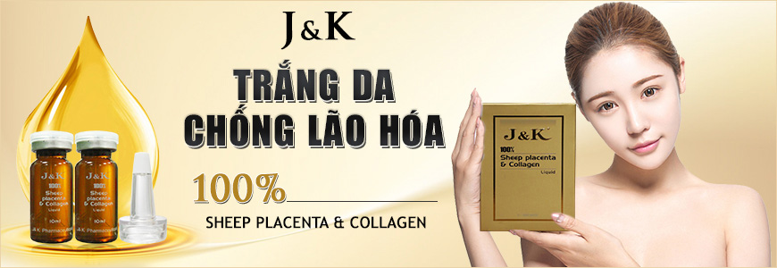 Tinh chất trắng da chống lão hóa J&K Sheep Placenta & Collagen