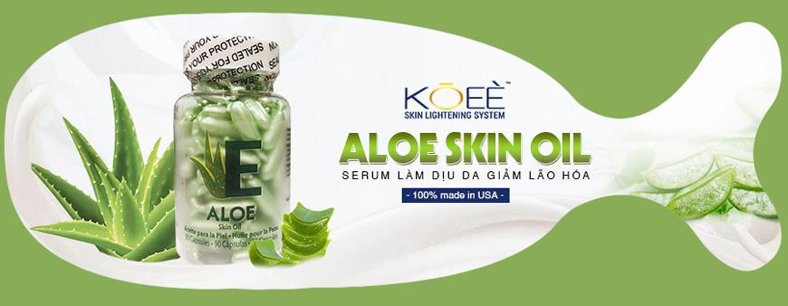 Serum dưỡng trắng làm dịu da Koee Aloe Skin Oil 1