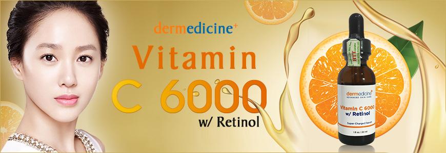 Serum trắng da chống lão hóa Dermedicine Vitamin C6000 Retinol 1